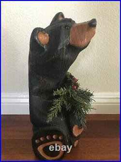 Big Sky Carvers Jeff Fleming Black Bear Wood Carving Sculpture Solid Pine