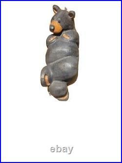 Big Sky Carvers Jeff Fleming Chillin Black Bear Wood Carving Sculpture Pine