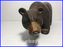 Big Sky Carvers Jeff Fleming Hand Carved Solid Wood 12 Brown Bear Sculpture