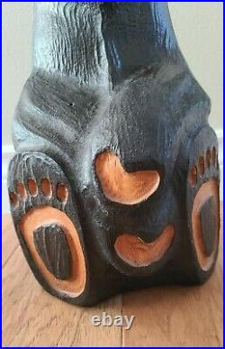 Big Sky Carvers Jeff Fleming Hand Carved Wood Bear 15 T
