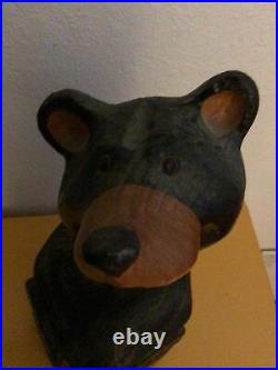Big Sky Carvers Jeff Fleming Large Hand Carved Wood Bear 15 Inches Tall