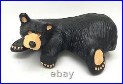 Big Sky Carvers Jeff Flemming Bearfoots Shelf Sitter RAYMOND Bear Sculpture