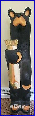 Big Sky Carvers Lou Black Bear with fish by Artist Jeff Fleming