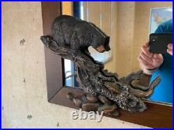 Big Sky Carvers Marc Pierce Sculptural Bear Trout Stream Wall Mirror Factory 2nd