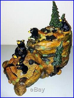 Big Sky Carvers Mountain Fountain Bear Themed Sculpture Fountain New in Box