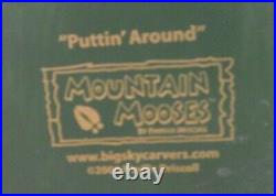 Big Sky Carvers Mountain Mooses Puttin' Around 18 Tall PreOwned/No Box