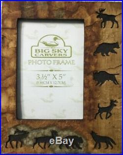 Big Sky Carvers Nature Wild Moose Elk Bear Frame Animal 3-1/2 x 5 Hunting BX24