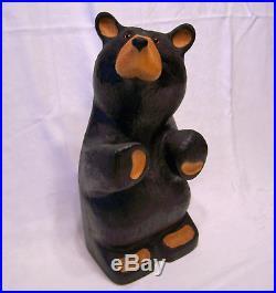 Big Sky Carvers Rare 17 Hard Carved Wood Bear Jeff Fleming Cabin BearFoots