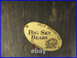 Big Sky Carvers Rosie Jeff Fleming Bear Solid Pine Wood Statue Lodge Decor B3-27