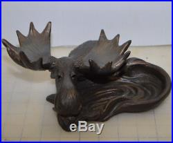 Big Sky Carvers Solid Carved Moose Ashtray Ash Tray Dish Spoon Rest Holder