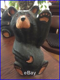 Big Sky Carvers Solid Wood 13 Bearfoot Mikey Waving Black Bear, Jeff Fleming