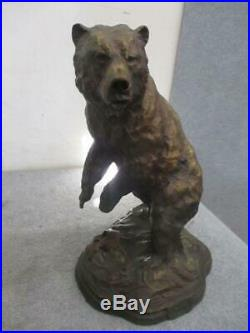 Big Sky Carvers Whose Creel Bear Statue from the Dick Idol Collection Cabin Art
