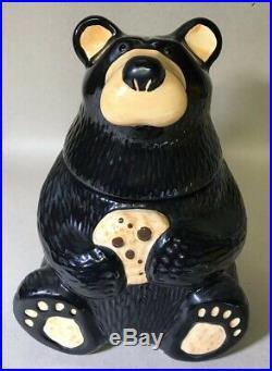 Big Sky Gifts Bearfoots Black Bear Cookie Jar 12 Bears By Jeff Glen EUC