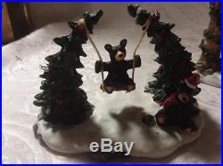Big Sky Jeff Fleming Bearfoots, Christmas Park 5 Piece Set, IN box
