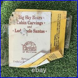 Big sky bears wooden carved bear 15 Inches Tall Stuck In The Log Black Bear