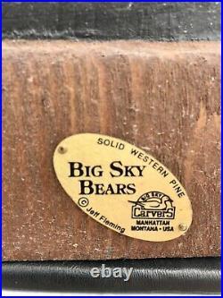 Big sky carvers wood bears by Jeff Fleming