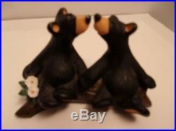 Brown Bears Figurine Big Sky Carvers Jeff Fleming Bearfoots Bear Kissing on Log