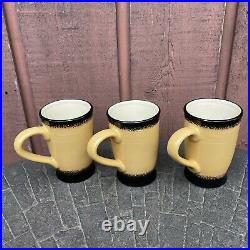 Brushwerks Big Sky Carvers Bear Mugs Set of 3 Stoneware 5.5 EXCELLENT