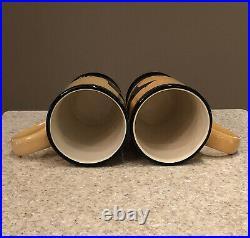 Brushwerks Big Sky Carvers Bear Mugs Stoneware 5.5 Set Of 4 EUC