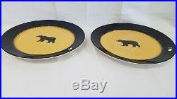 Brushwerks Stoneware Big Sky Carvers Grizzly Brown Bear 11 Dinner Plate Set 2