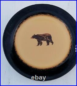 Brushwerks Stoneware Big Sky Carvers Set Of 3 Dinner Plates Bear