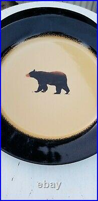 Brushwerks Stoneware Big Sky Carvers Set Of 4 Dinner Plates Bear
