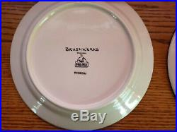 Brushwerks Stoneware by Big Sky Carvers Bear Salad Plates Set of 4 Retired