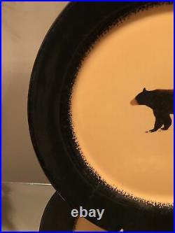 Brushwerks by Big Sky Carvers Bear Dinner Plates Set Of 4 Measures 11