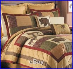C&F 2 Piece Twin Quilt Set Big Sky Moose Bear Deer Rustic Lodge Style Comforter