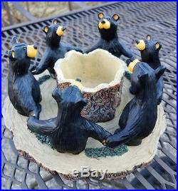 Circle Of Bears Bear Foots Bears By Jeff Fleming Candle Holder Big Sky Carvers
