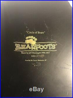 Circle of Bears BearFoots Candle Holder Artist Jeff Fleming, Big Sky Carvers