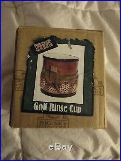 Fields Of Green golf rinse cup by Big Sky Carvers
