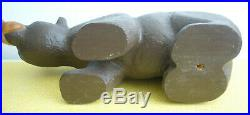 Hand Carved Jeff Fleming Big Sky Bears Solid Wood Brown Bear Figure