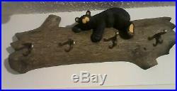 Huge Bearfoots Bears Jeff Fleming Big Sky Coat Rack Wall Piece HTF
