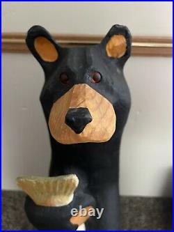 Jeff Fleming 33 Carved Bear Lou Big Sky Carvers Solid Wood Carving Cabin
