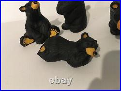 Jeff Fleming Bearfoots Big Sky Carvers Bear Figures Lot Of 4 Bart Boyd