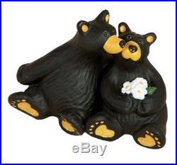 Jeff Fleming Bearfoots Little Smooch Bears Kissing Miniature Figurine Big Sky
