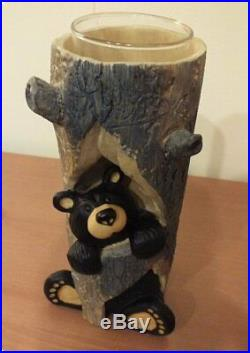Jeff Fleming Big Sky Carvers Bearfoot Bear Sparky Candleholder NIB