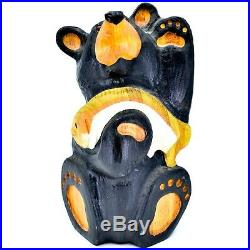 Jeff Fleming Big Sky Carvers Bears Bear Sage 13 Solid Wood Painted Carving