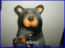 Large Big Sky Carvers Wood Carved Bear Nana With Baby Very Rare Wood Carving
