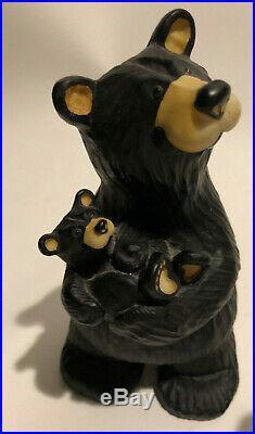 Lot of 5 Big Sky Carvers Bearfoots Bears by Montana Artist Jeff Fleming