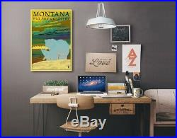 MT Big Sky Country Bear & Cub LP Artwork (24x36 Stretch Canvas)