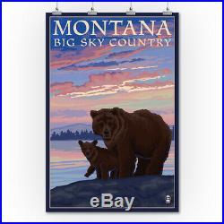 MT Big Sky Country Bear & Cub LP Artwork (36x54 Giclee Print)