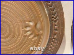Maskwa Ridge SET OF 4 DINNER PLATES Stoneware Big Sky Carvers Bear paw print