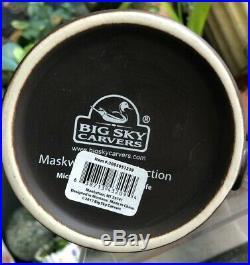 Mug-Cup-Maskwa Ridge-Big Sky Carvers-BEAR PAW Print-Indented-Stoneware-Brown