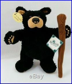 NEW Big Sky Carvers 1996 Poseable Plush Bearfoot Bear Walking Stick Jeff Fleming
