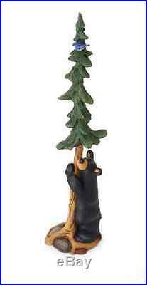 New Bearfoot, Bluebird and Bear with Tree Figurine, Big Sky Carvers, Demdaco