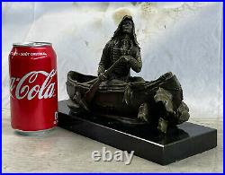 New Big Sky Carvers Bronze Sculpture Original Milo Canoe Trip Bear Bears