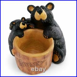 New In Box Big Sky Carvers Bearfoots Grand Honey Bear Jeff Fleming Demdaco
