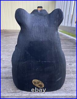 Original BIG SKY BEARS by Jeff Fleming Artisan Sculpture carved wood 11